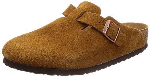 Birkenstock Women's Boston Soft Footbed Clog Mink Size, 8.5 Women/6.5 Men, 39 N EU