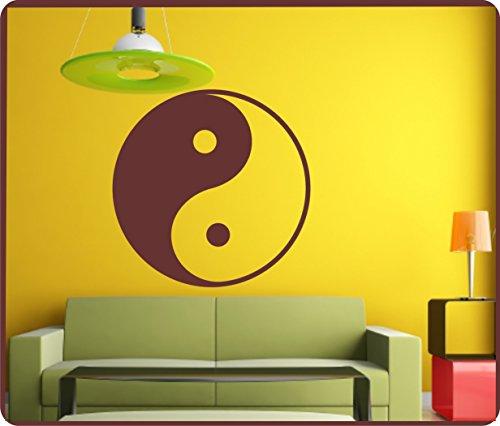Sticker mural autocollant Motif Yin Yang Yin séparer autocollant pour voiture sticker mural 60 cm dans 33 couleurs mat ou brillant - Gris clair brillant