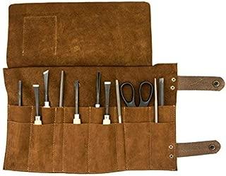 Snap Tool Roll/Barber Roll Handmade by Hide & Drink :: Swayze Suede