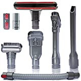 Flexible Extension Hose & Vacuum Attachments - Replacement Parts for Dyson V11 V10 V8 V7 V6 DC74 DC62 DC59 DC44 - Vacuum Cleaner Accessories Dusty Brush