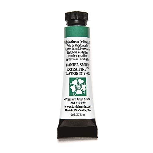 DANIEL SMITH Extra Fine Watercolor Paint, 5ml Tube, Phthalo Green(YS), 284610079