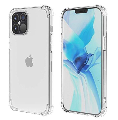 HSP Transparente Hülle kompatibel mit Apple iPhone 12 Pro Max | Bumper Kratzfest Stoßfest Klar | Microdot Handyhülle | Premium TPU Silikon Case | Induktives Laden | Weiche, durchsichtige Schutzhülle