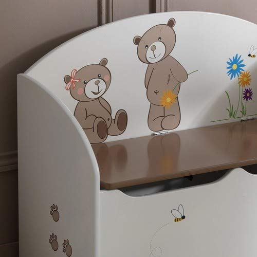 Demeyere Spielzeugtruhe Ted und Lily, beige/chocolate, 69.5×29.5×55.5cm - 4