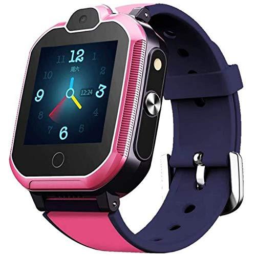 LDL LIUDONGLIANG 4G GPS-Tracker-Uhr for Kinder, Smartwatch mit Telefon- und Notruf, Deutsch GPS Tracker Shop (Color : Pink)