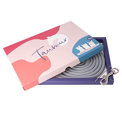 Taumur DIY-Set mit PPM-Seil für zweifach verstellbare Hundeleine - grau