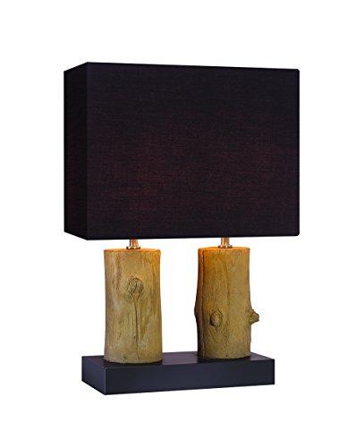 Lampe à Poser décoration Bois - luminaire Double décoratif Chalet Chic - Tree 2