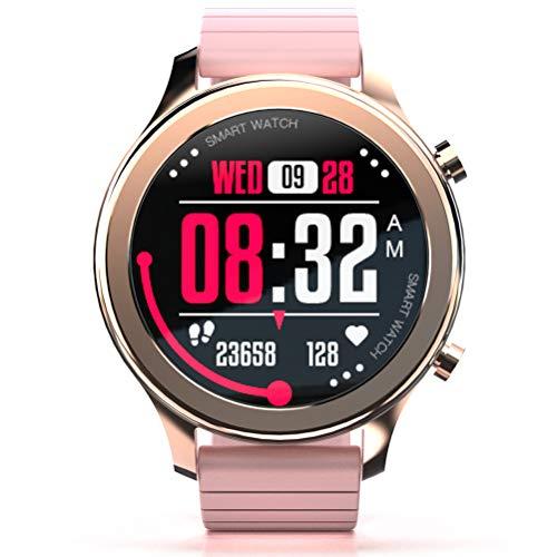 Time Smartwatch, Reloj Inteligente Deportivo De Moda con Función De Monitoreo De ECG PPG HRV para Todo Clima para Mejorar El Temperamento,Rosado