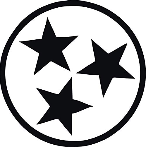 Tennessee Tristar Logo Vinyl Decal Sticker for Window ~Car ~ Truck~ Boat~ Laptop~ iPhone~ Wall~ Motorcycle~ Gaming Console~ Size 4' W X 4' H Black