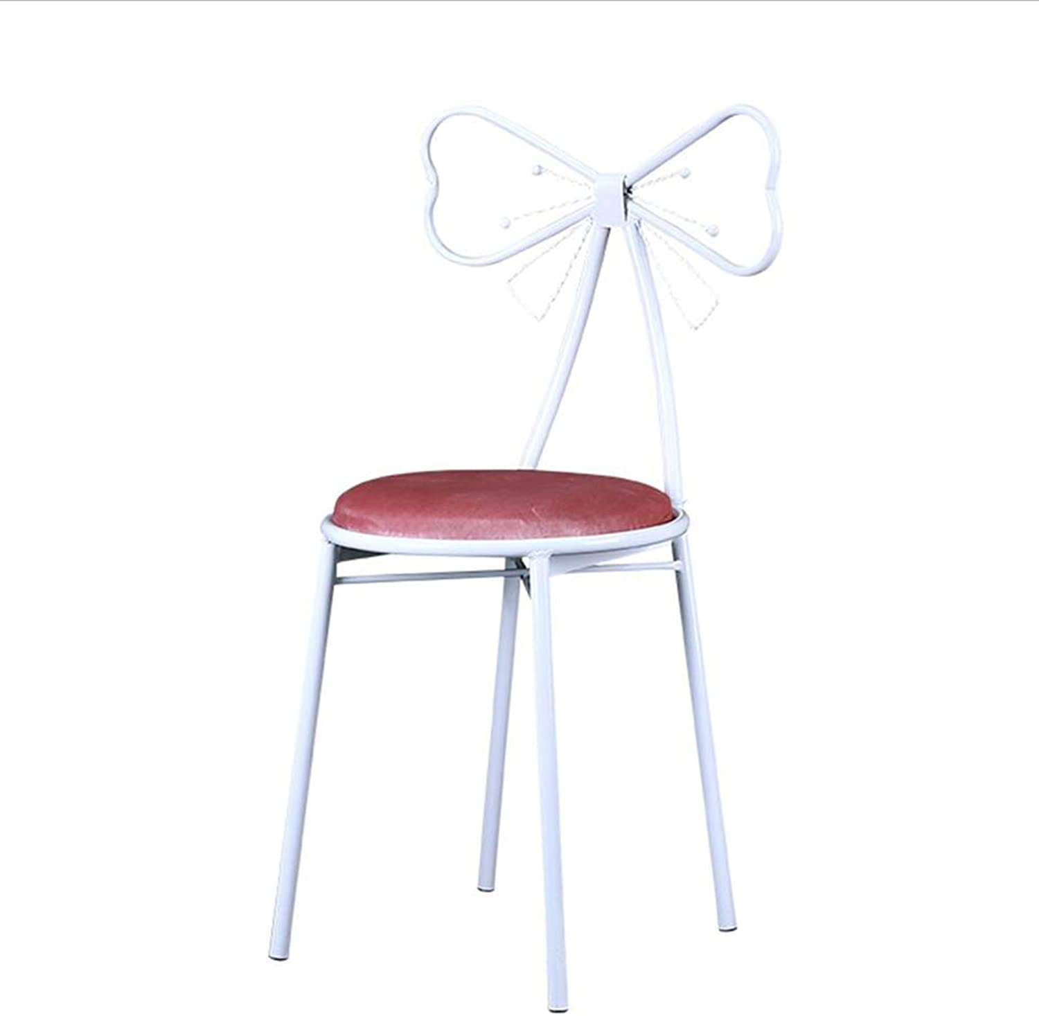 Chair Dining Chairs Seat Chair Bow Back Aluminum Chair Legs Stackable Anti-Slip Mat Reinforcing Bracket Restaurant Office Household FENPING (color   D)
