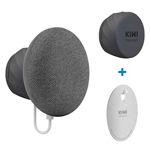 KIWI design Soporte para Nest Mini de Google (2nd Gen), Montaje de Salida de Ahorro de Espacio Excelente Gestión de Cables para Nest Mini de Google (Negro)
