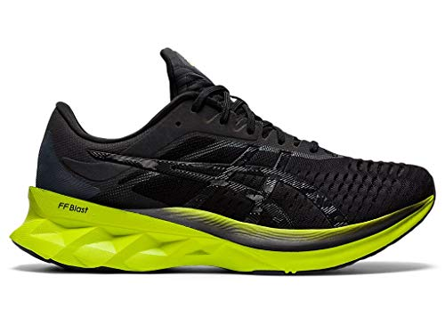 ASICS Men's Novablast Running Shoes, 10.5M, Black/Lime Zest