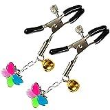 EXCEART 1 Paar Brustwarzenklemmen Clip mit Schmetterling Glocke Bruststimulation Spielzeug Sm...