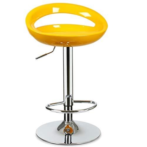 Tabouret de bar GCX- Chaise de Bar Café Chaise lève-Fauteuil Famille Tabouret Haut Tabouret de comptoir Noir Multicolore Durable (Color : Yellow)