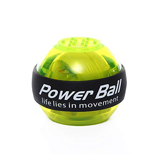 Verdelife Ejercitador de Mano Powerball, Núcleo de Maravilla, Fortalecedor de Antebrazo, Giroscopio Led para Equipos de Gimnasia