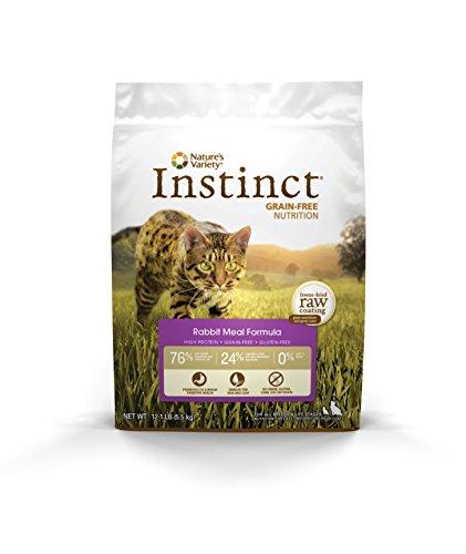 Nature'S Variety Instinct Original Grain Free Recipe Natural Dry Cat Food Rabbit