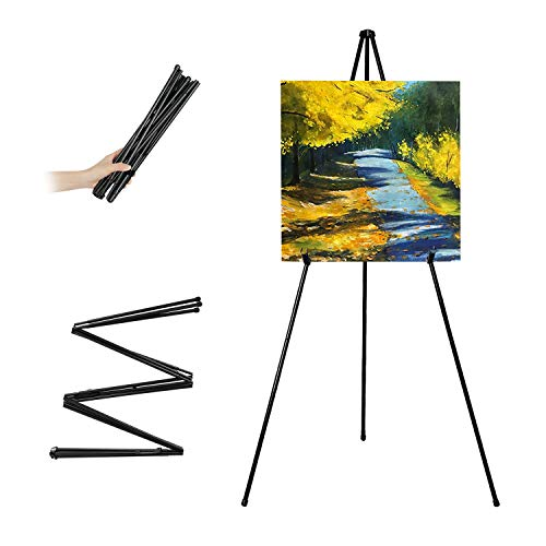 VAIIGO Folding Easel, Portable Display Easel Floor Art Easel, Adjustable...