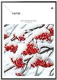 Zxwd Impresiones Lienzo Pintura Imagen Impresión Carteles Arte Cartel Regalo Estilo Invierno Fruta Paisaje Pared Para Sala De Estar Decoración Del Hogar Hd Pared Nieve Plantas Marco