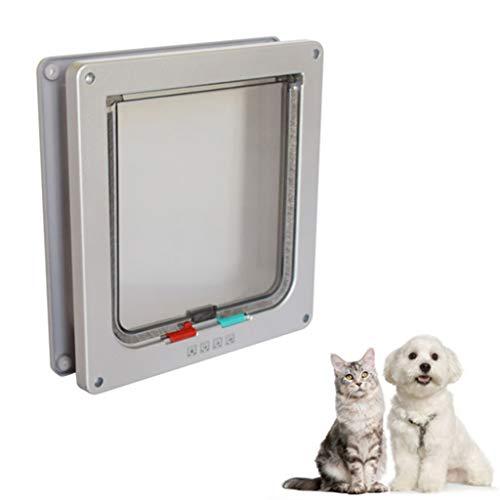 YUEBAOBEI Katzenklappe Hundeklappe,Safe Door Intelligente Steuerung 4 Wege Magnet Verschluss Katzentür, ABS Kunststoff Tunnel Für Katzen Hunde, Transparent Und Verschleißfest