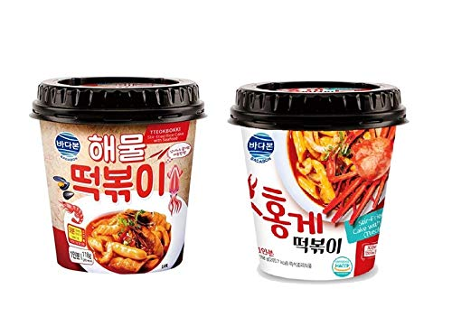 Badabon Instant Tteokbokki Rice Cake | Pack Of 2 Popular Korean Spicy Snack in a Cup (COMBO PACK)