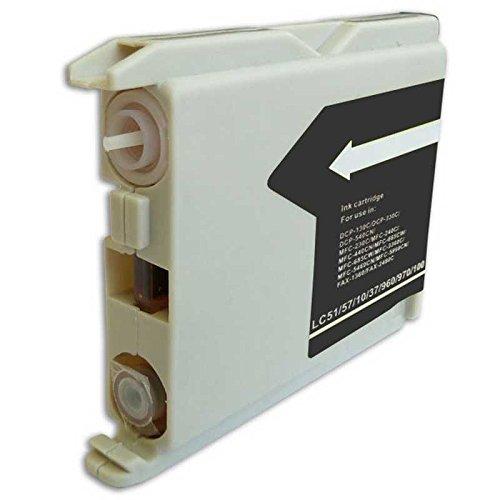 Cartucho tinta negra de 25ml. compatible con Impresoras Brother con cartucho LC51BK-LC57BK-LC37BK-LC960BK-LC970BK-LC1000BK