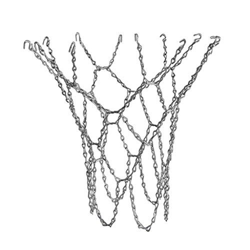 Cikuso Basketballnetz, verzinktes Metallnetz, Stahl Ketten Netz, stark und robust Fuer Outdoorkorb