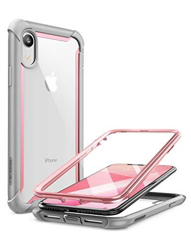 i-Blason Cover iPhone XR, Custodia Rigida con Protezion per Schermo [Serie Ares] TPU Bumper Rugged Case per Apple iPhone XR 2018, Rosa