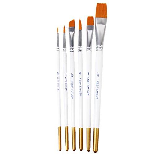 【ノーブランド品】水彩画筆 水彩 油絵用筆 画筆 ペイントブラシ 6本セット