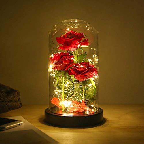 'La Bella y la Bestia' Rose Kit completo para la decoración, Caja de Regalo para Madre para Amor en el Día de San Valentín para Aniversario para Amigos como Un Regalo de Cumpleaños