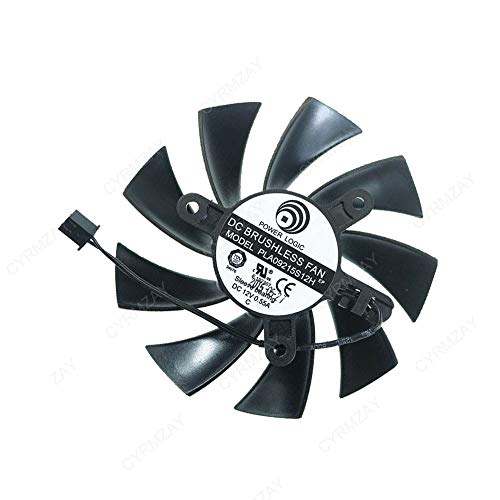 CYRMZAY Ventilador PLA09215S12H DC12V 0.55A 2PIN Compatible para EVGA GE CE GTX 750 Ti SC Mini