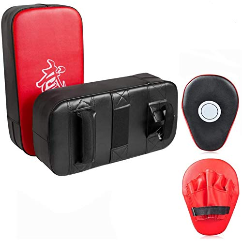 Cyfie Boxing Kick Pads Target Kick Pad Hand Pads Thai Pads Karate Kick Pads Kickboxing Training Pads Martial Arts MMA Punching MittsKicking Boxing Shield Training for Men Women Gym