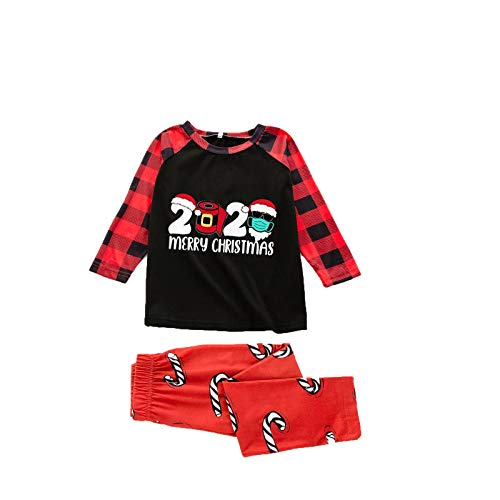 STORTO Family Pajamas Matching Sets Matching Christmas PJs with 2020 Reindeer Letter Printed Long Sleeve Sleepwear