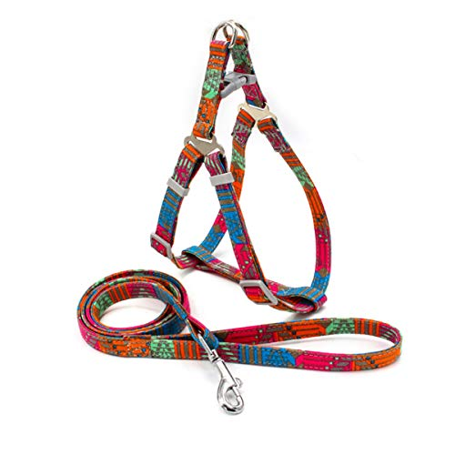 Step in Dogs Harness No Pull Dog Harness Adjustable Pest Vest with Leash Dog Safety Harness Easy for Outdoor Walking Training Easy Control Harness for Small Medium Large Breed Dogs, Stripes
