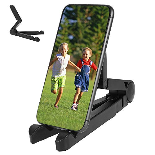 Soporte Movil Mesa Adecuado para Tableta de Escritorio para Teléfono Móvil (Negro)