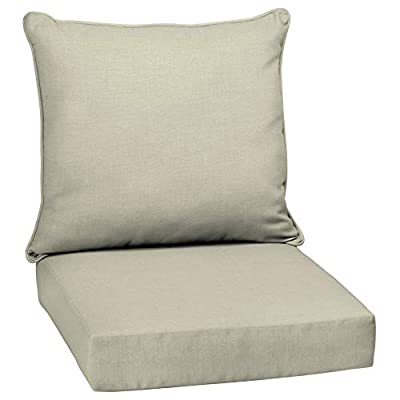 Overstock Arden Selections Tan Outdoor Deep Seat Cushion Set