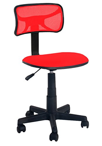 Urban Shop Swivel Mesh Desk Chair, Red