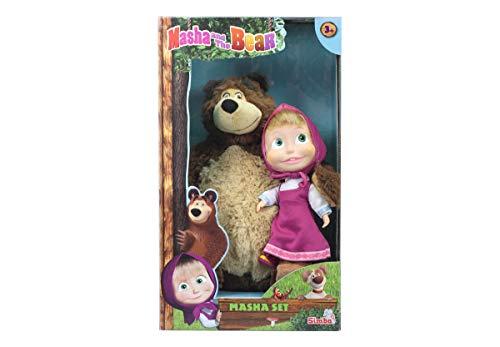 Simba Masha Set Bambola cm.23 e Orso Peluche cm.43