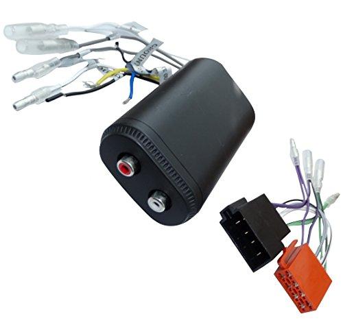 Aerzetix adapter kabelboom ISO RCA voor versterker autoradio + afstandsbediening C16589