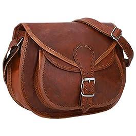 Gusti sac à bandoulière femme cuir – Evelyn sac à main cuir véritable vintage sac en bandoulière marron petit sac bohème…
