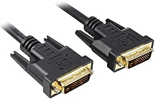 PremiumCord DVI Verbindungskabel   1m, Dual Link, DVI D (24 + 1) Stecker auf Stecker, Digital, Full HD 1080P, max. Auflösung: 2560 x 1600 Pixel 60Hz, Farbe schwarz