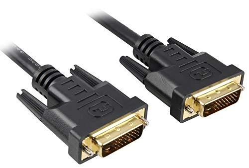 PremiumCord DVI Verbindungskabel - 1m, Dual-Link, DVI-D (24 + 1) Stecker auf Stecker, Digital, Full HD 1080P, max. Auflösung: 2560 x 1600 Pixel 60Hz, Farbe schwarz