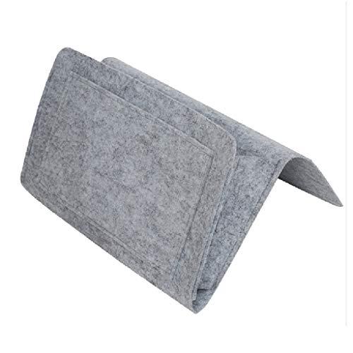 Organiseur pour lit - Organisateur de Caddie en Chevet Poche de Lit Sac de Rangement - Feutre épais Poche de lit de Chevet Canapé Lit Organisateur de Poche Bien Rangé avec 5 poches Serria