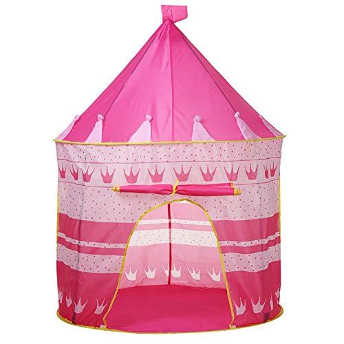 AllRight Tente pour Les Enfants Jouent Tente Pliable Tente du Château De Princesse D'été Jeux Intérieurs Et Extérieurs Portable Tente De Château Salle De Jouets pour Enfants Rose