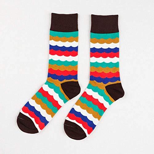 SYCJO Calcetines Calientes,Calcetines para Hombre Calcetines Happy Socks Calcetines de algodón para Hombres Calcetines literarios de Caballero Algodón Unise