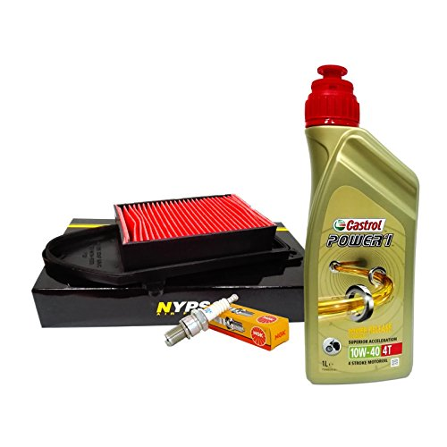 Kit tagliando Castrol 10W40 filtro aria candela Kymco Agility/People 125/150/200
