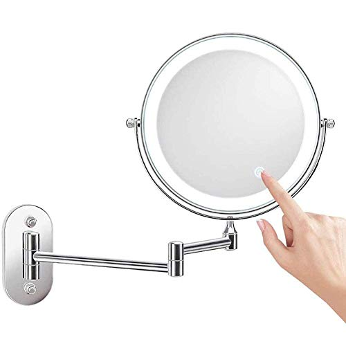 Espejo maquillaje Espejo baño 8 pulgadas Espejo maquillaje montado en la pared...