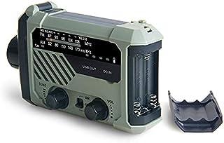 GJHK Radio à manivelle Solaire, Alarme de prévention des catastrophes, Chargement de téléphone Mobile USB, Radio de Bande ...