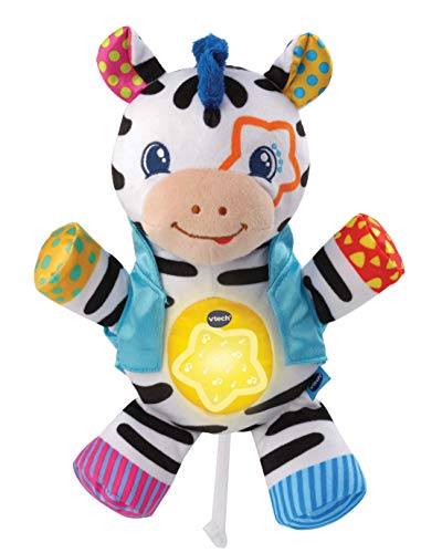 VTech - Juguete sensorial de cebra con colores, texturas y sonidos arrugados, juguete musical para bebés de 0, 6, 12 meses, niños y niñas , color/modelo surtido