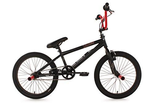 KS Cycling Dynamixxx Vélo BMX Freestyle 20' Noir/Rouge