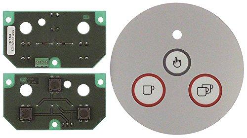 Mazzer toetsenbordeenheid voor koffiemolen MINI 3 toetsen ø 120 mm grijs