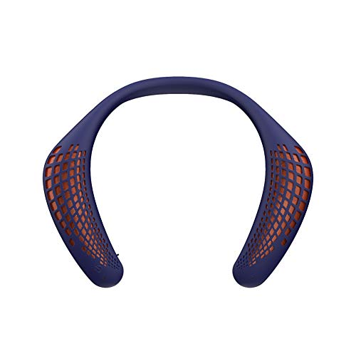 Oraolo M110 Neckband Bluetooth Speakers, Wireless Wearable Speaker True 3D Stereo Sound, Portable Personal Speakers IPX5 Waterproof, Bluetooth 5.0 Built-in Mic, Comfortable and Durable Design, Blue
